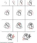 comment apprendre a dessiner une rose
