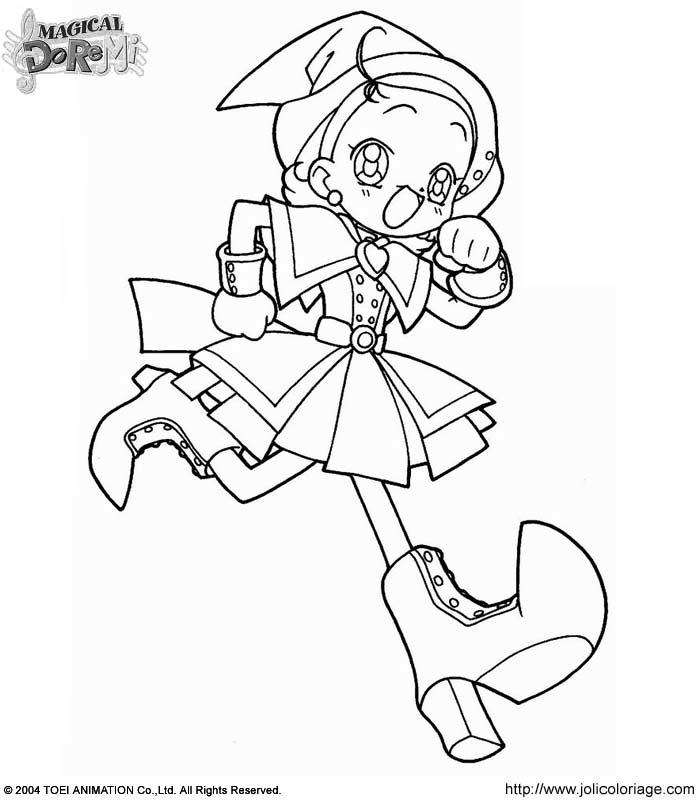 Sophie dans Coloriage Magical Doremi doremimagique10