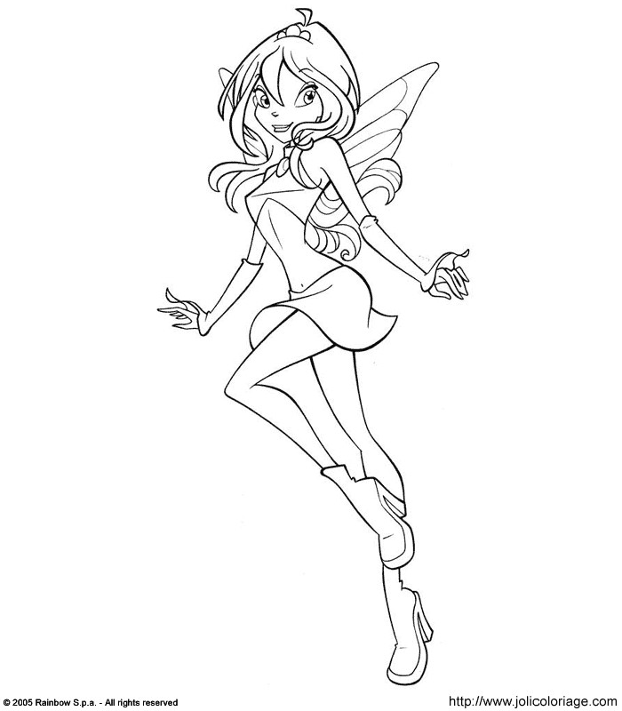 Bloom dans Coloriage Winx